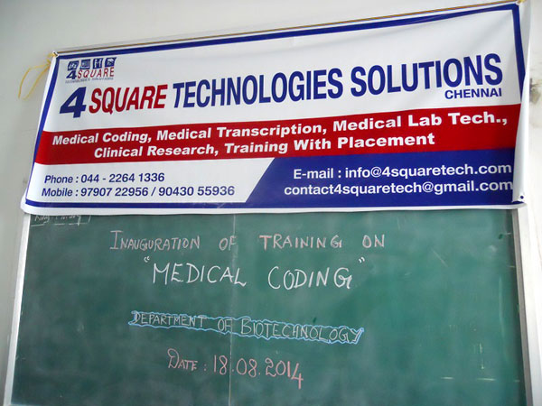 Inauguration of Training on 'Medical Coding', on  18 Aug 2014