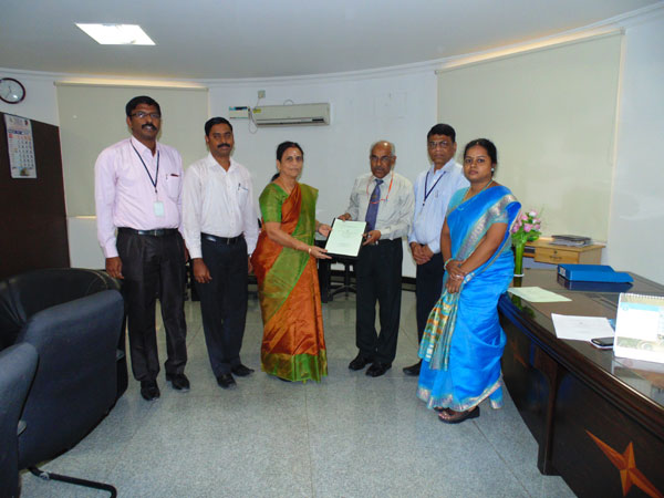Department of CSE signed a MoU with BSNL RTTC Chennai, on 11 Feb 2015