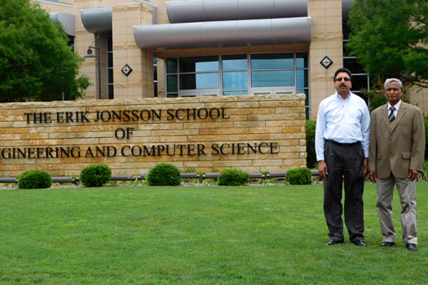 Prof. Dr. V. Thamizh Arasan, Vice Chancellor, VELS University, Chennai, India; Dr. Gopal Gupta,  Professor and Chair, Department of Computer science, The Erik Johnson School of  Engineering and Computer Science, University of Texas at Dallas, USA, on 14 May 2015