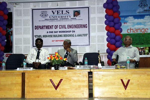 Workshop on ETABS - High-rise Building Designing and Analysis,<br> organized by Dept of Civil Engg, on 22 Sept 2015