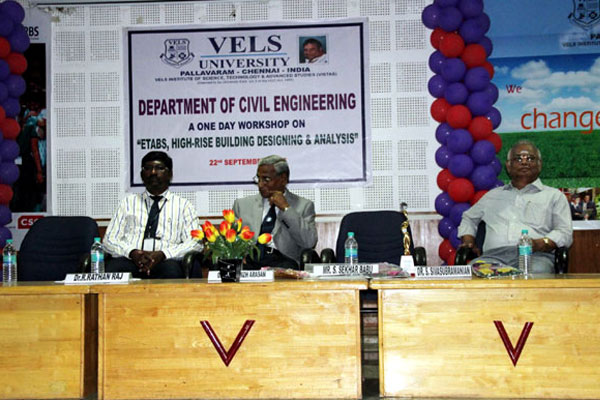 Workshop on ETABS - High-rise Building Designing and Analysis, organized by Dept of Civil Engg, on 22 Sept 2015