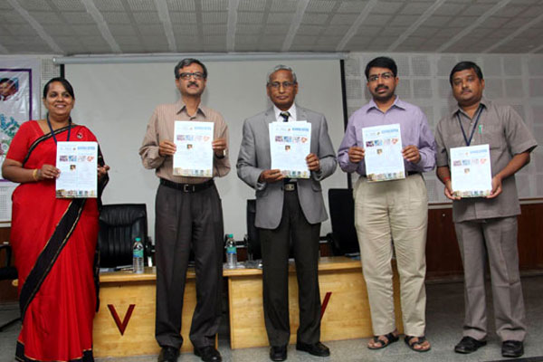Released the 22nd Issue of Blooming Biotech Official news letter of Biotechnology Department, on National Science Day 2016, by Prof V. Gopal, Dean Academics IIM Trichy