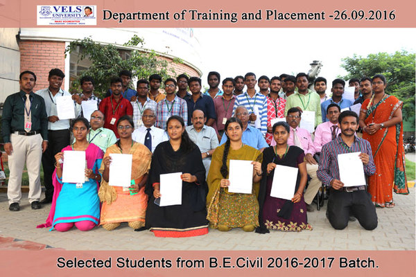Students Placed 2016-17