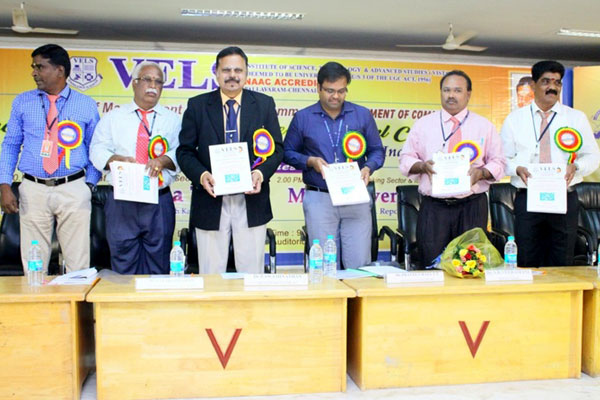 Vice Chancellor i/c. Dr.  P. Swaminathan inaugurating the National Conference VELS NACON 2018