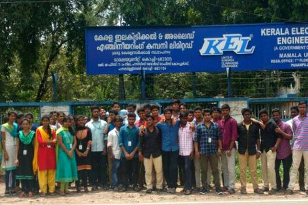 Industrial Visit to Kerala Electrical & Allied Engineering Co Ltd, by students from Dept of ECE, on 20 Sep 2017
