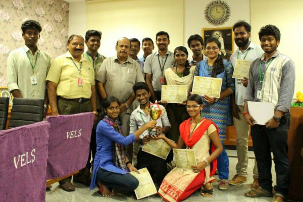 Students from School of Mass Communication, had Won the Prize, at Carnival De France event, held at Madras Christian College
