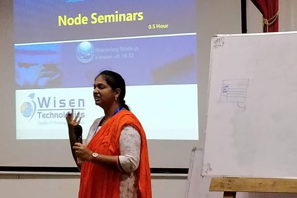 Node Seminars, by Wisen Technologies, organized by Dept of CSE, on 12 Sep 2018